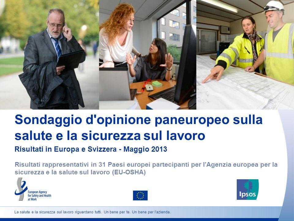 Sondaggio d opinione paneuropeo sulla salute e la sicurezza sul lavoro Risultati in Europa e Svizzera - Maggio 2013 Risultati rappresentativi in 31 Paesi europei partecipanti per l Agenzia europea per la sicurezza e la salute sul lavoro (EU-OSHA) La salute e la sicurezza sul lavoro riguardano tutti.