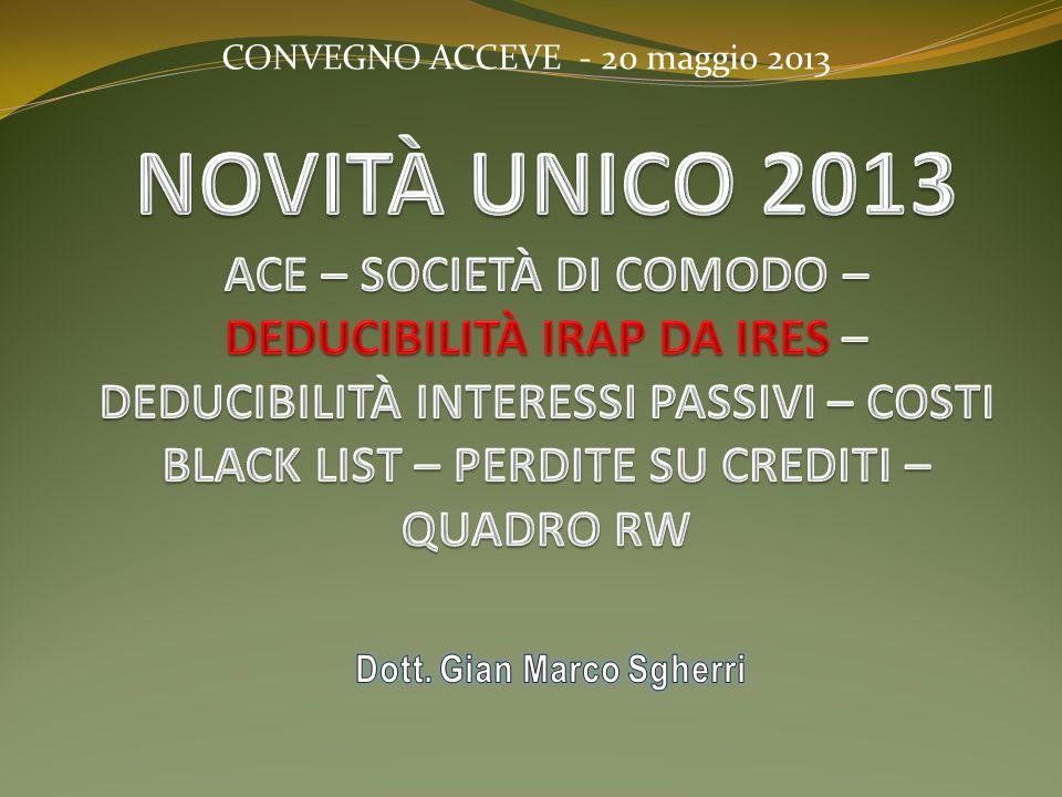 CONVEGNO ACCEVE - 20 maggio 2013