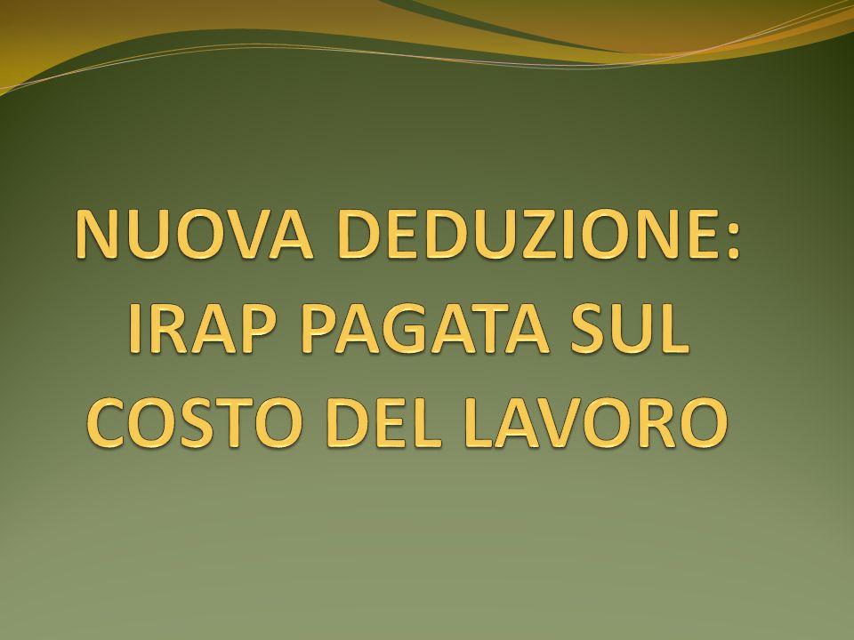 2° FASE Costo del lavoro che ha concorso alla base imponibile IRAP (Voce B9 CE + Rigo IC41 IRAP – Rigo IS8 IRAP – Rigo IC66 IRAP) Base imponibile IRAP (Valore della produzione netta Rigo IC72 IRAP) % < 90%