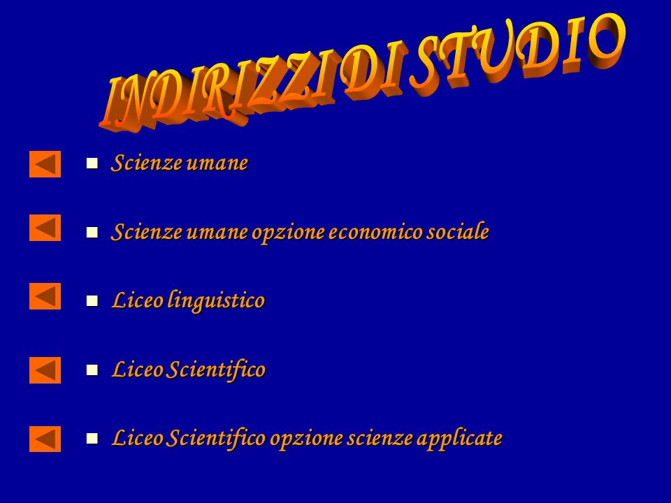 Scienze umane Scienze umane Scienze umane opzione economico sociale Scienze umane opzione economico sociale Liceo linguistico Liceo linguistico Liceo Scientifico Liceo Scientifico Liceo Scientifico opzione scienze applicate Liceo Scientifico opzione scienze applicate