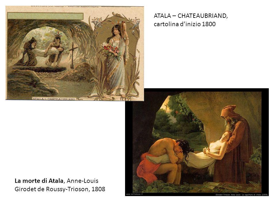La morte di Atala, Anne-Louis Girodet de Roussy-Trioson, 1808 ATALA – CHATEAUBRIAND, cartolina dinizio 1800