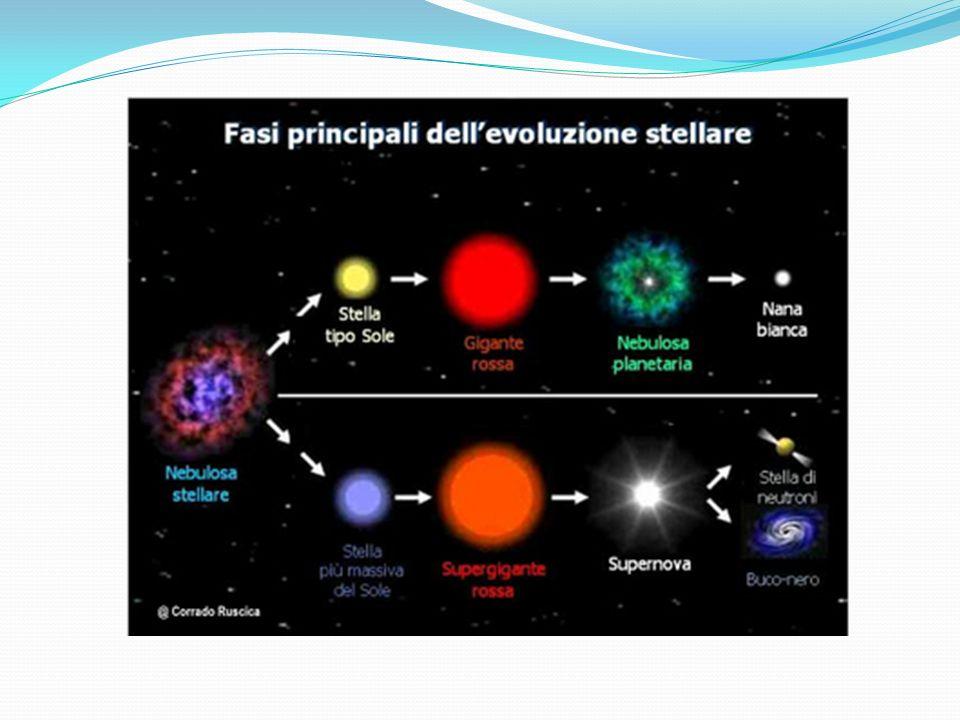 Le stelle, che si formano all interno di nubi di gas e polveri, sono corpi celesti che brillano di luce propria trasformando, attraverso reazioni di fusione nucleare, l idrogeno in elio e sviluppando energia sotto forma di calore e di luce.