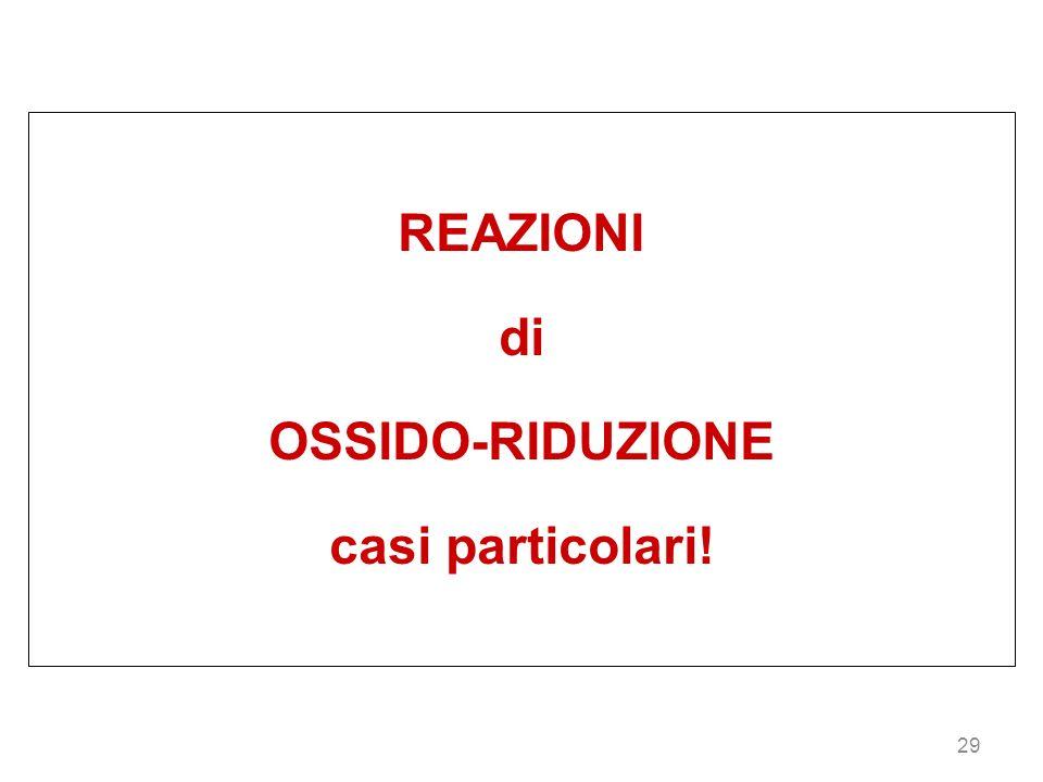 29 REAZIONI di OSSIDO-RIDUZIONE casi particolari!