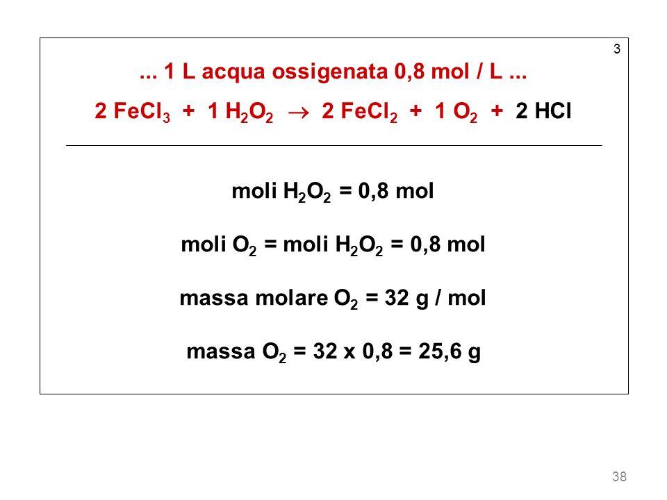 38 3...1 L acqua ossigenata 0,8 mol / L...