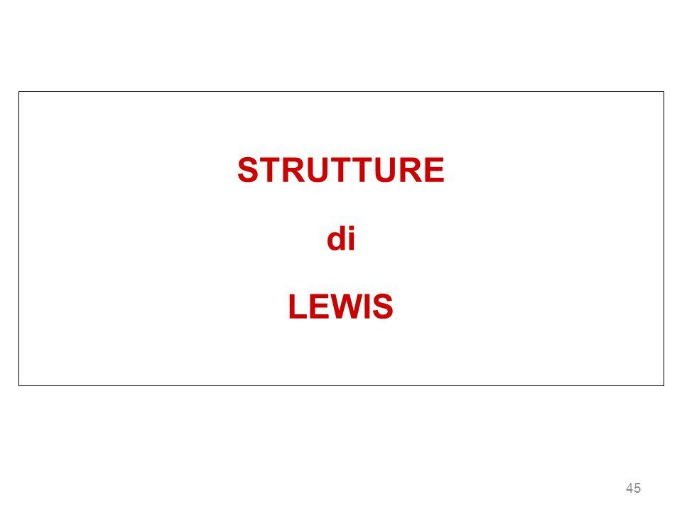 45 STRUTTURE di LEWIS