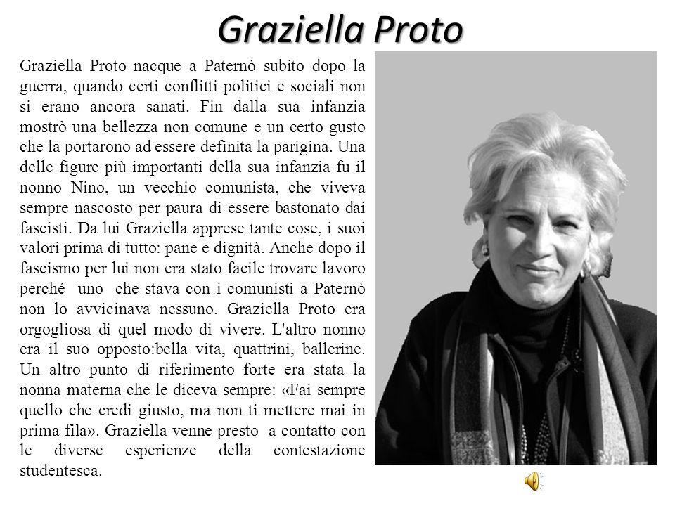 Graziella Proto Graziella Proto nacque a Paternò subito dopo la guerra, quando certi conflitti politici e sociali non si erano ancora sanati. Fin dall