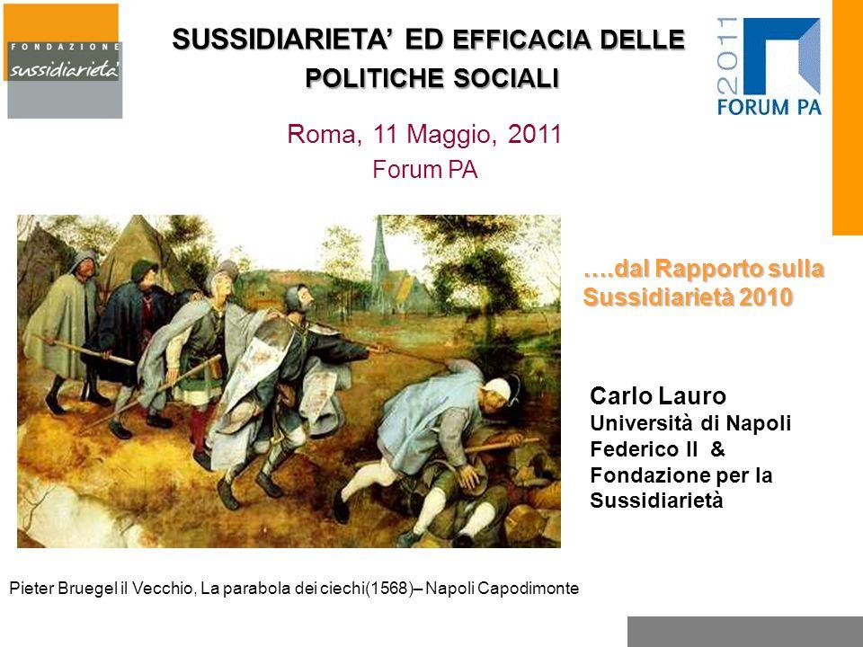 ….dal Rapporto sulla Sussidiarietà 2010 Carlo Lauro Università di Napoli Federico II & Fondazione per la Sussidiarietà Pieter Bruegel il Vecchio, La p