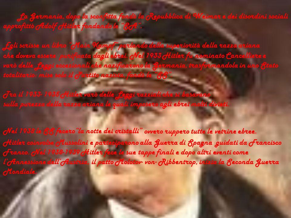 Dopo la Prima Guerra Mondiale alcuni personaggi diedero inizio a due movimenti: il fascismo e il nazismo che aggravarono la Seconda Guerra Mondiale. I