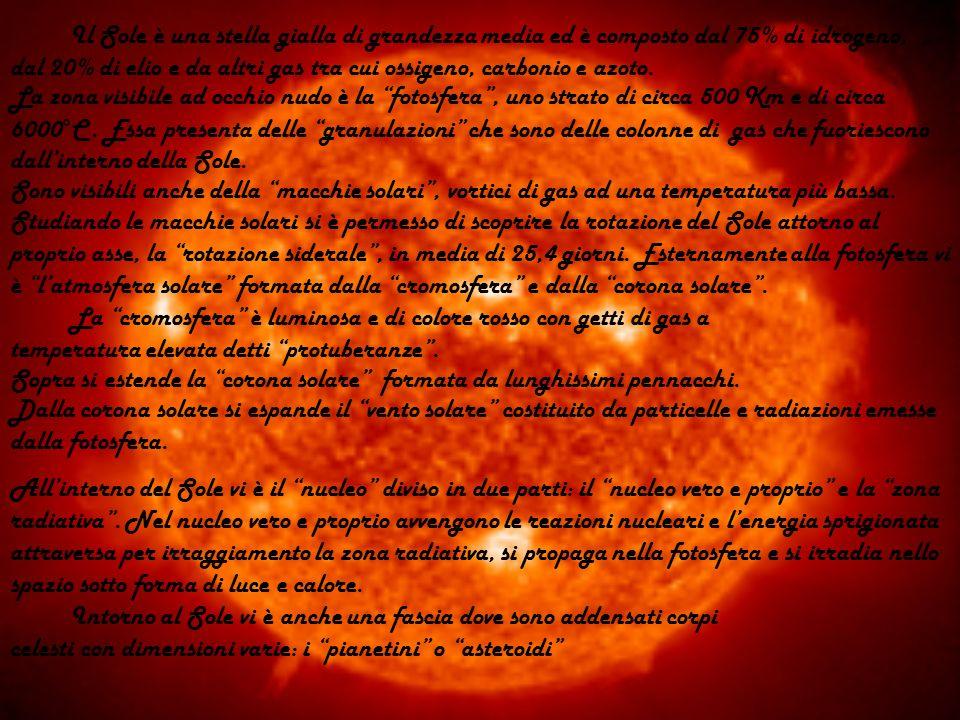 La PRIMA LEGGE DI KEPLERO dice che lorbita descritta da ogni pianeta è unellisse in cui il Sole occupa uno dei due fuochi.
