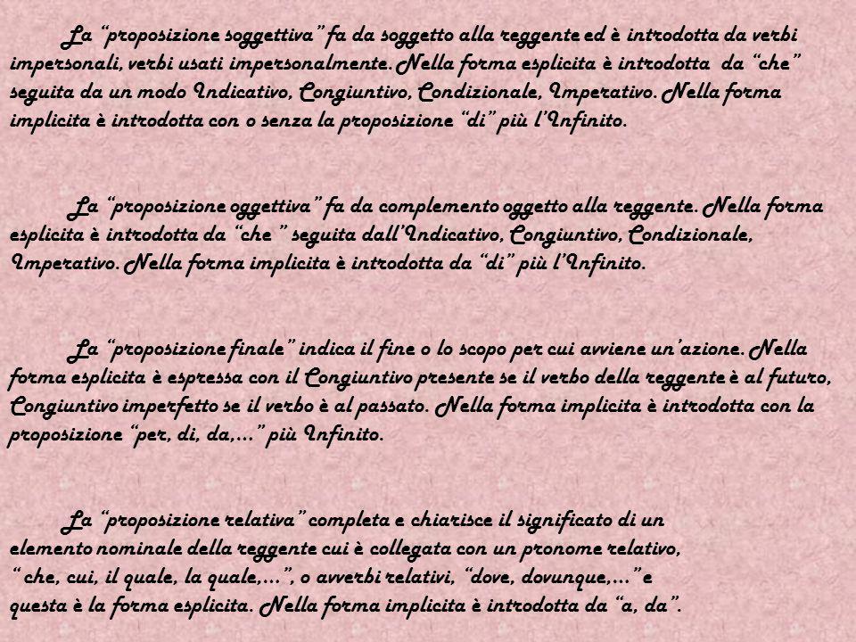 GRAMMATICA Il periodo è un pensiero di senso compiuto riconoscibile dal punto fermo, due punti, punto e virgola,… La coordinata è una proposizione principale che viene chiamata così quando ve ne è più di una e vi sono vari modi di coordinazione: asindeto : senza congiunzioni ma con le virgole; polisindeto : ripetendo la congiunzione; copulative : mediante congiunzioni e, anche, né, neppure,… avversative : mediante congiunzioni ma, invece, anche,… ; disgiuntive : mediante congiunzioni o, oppure, ovvero,… ; dichiarative : mediante congiunzioni dichiarative ossia, cioè, infatti,… ; conclusive : mediante conclusioni conclusive perciò, quindi, dunque,….
