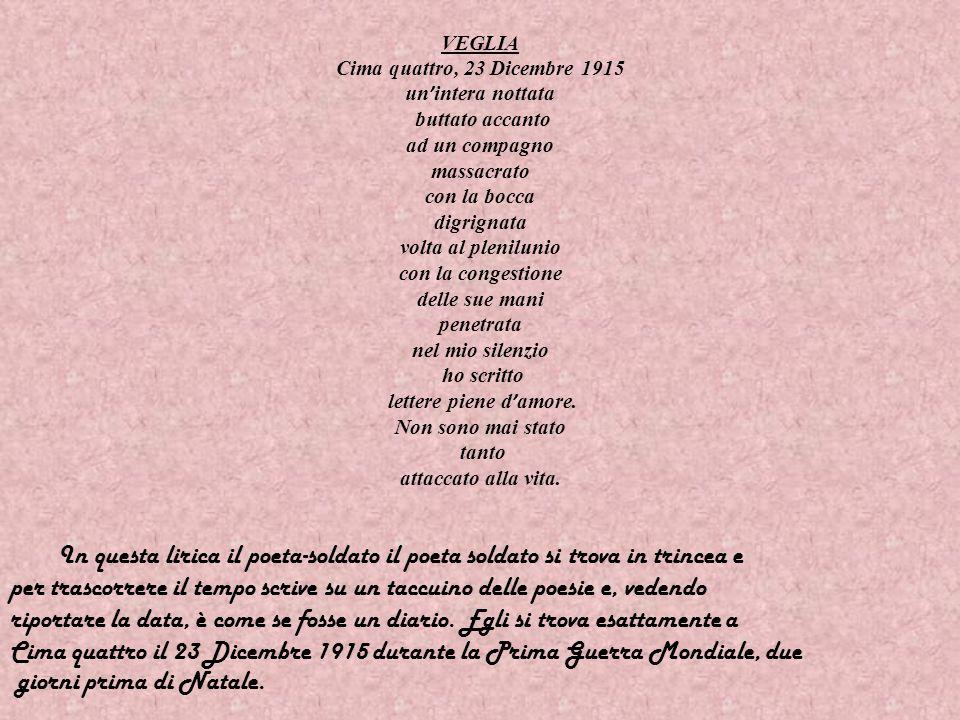 Ungaretti nacque ad Alessandria dEgitto nel 1888 da genitori toscani emigrati lì per motivi di lavoro. Nel 1912 andò a Parigi per frequentare lUnivers