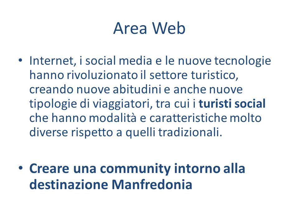 Area Web Internet, i social media e le nuove tecnologie hanno rivoluzionato il settore turistico, creando nuove abitudini e anche nuove tipologie di viaggiatori, tra cui i turisti social che hanno modalità e caratteristiche molto diverse rispetto a quelli tradizionali.