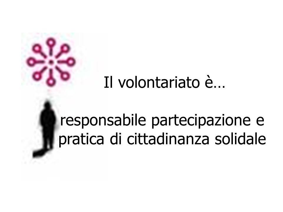 Il volontariato è… responsabile partecipazione e pratica di cittadinanza solidale