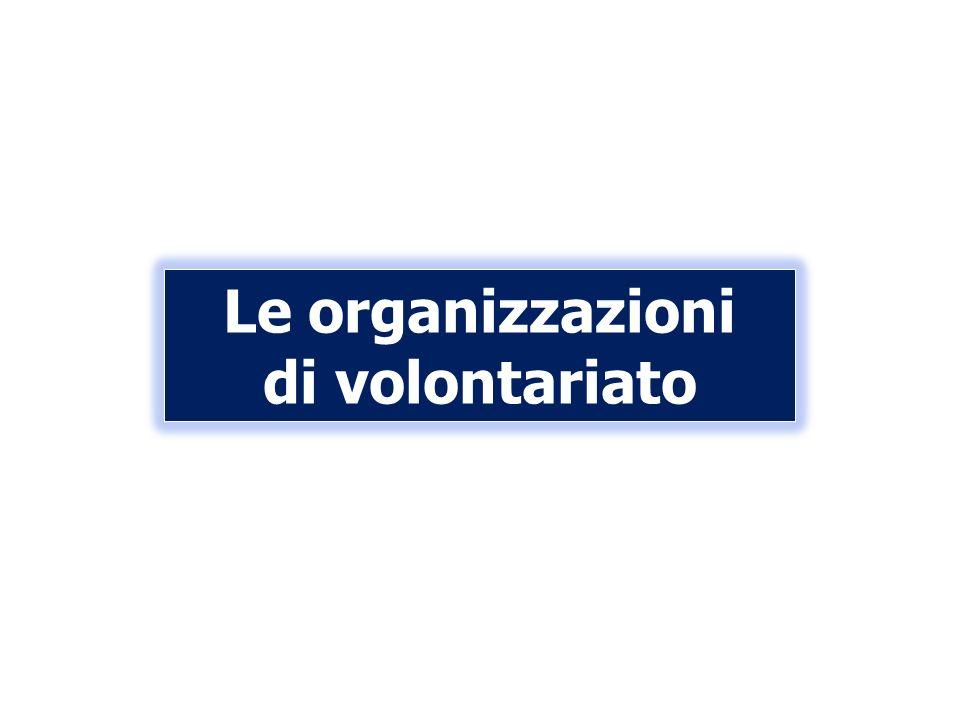 Le organizzazioni di volontariato