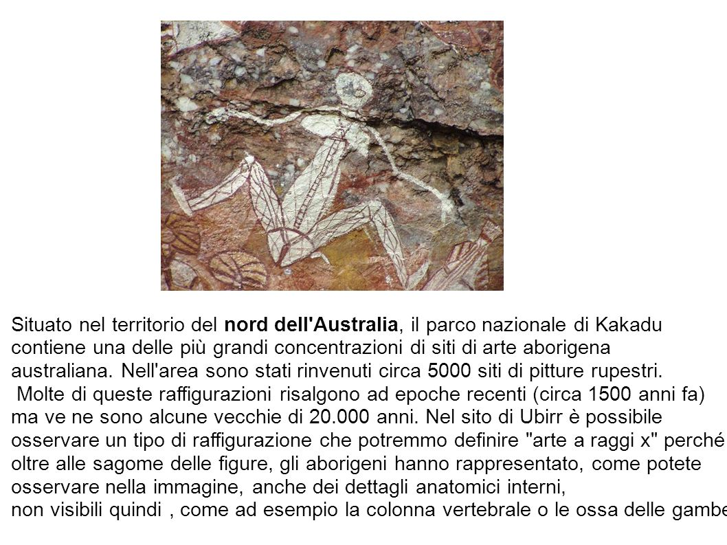 Situato nel territorio del nord dell'Australia, il parco nazionale di Kakadu contiene una delle più grandi concentrazioni di siti di arte aborigena au