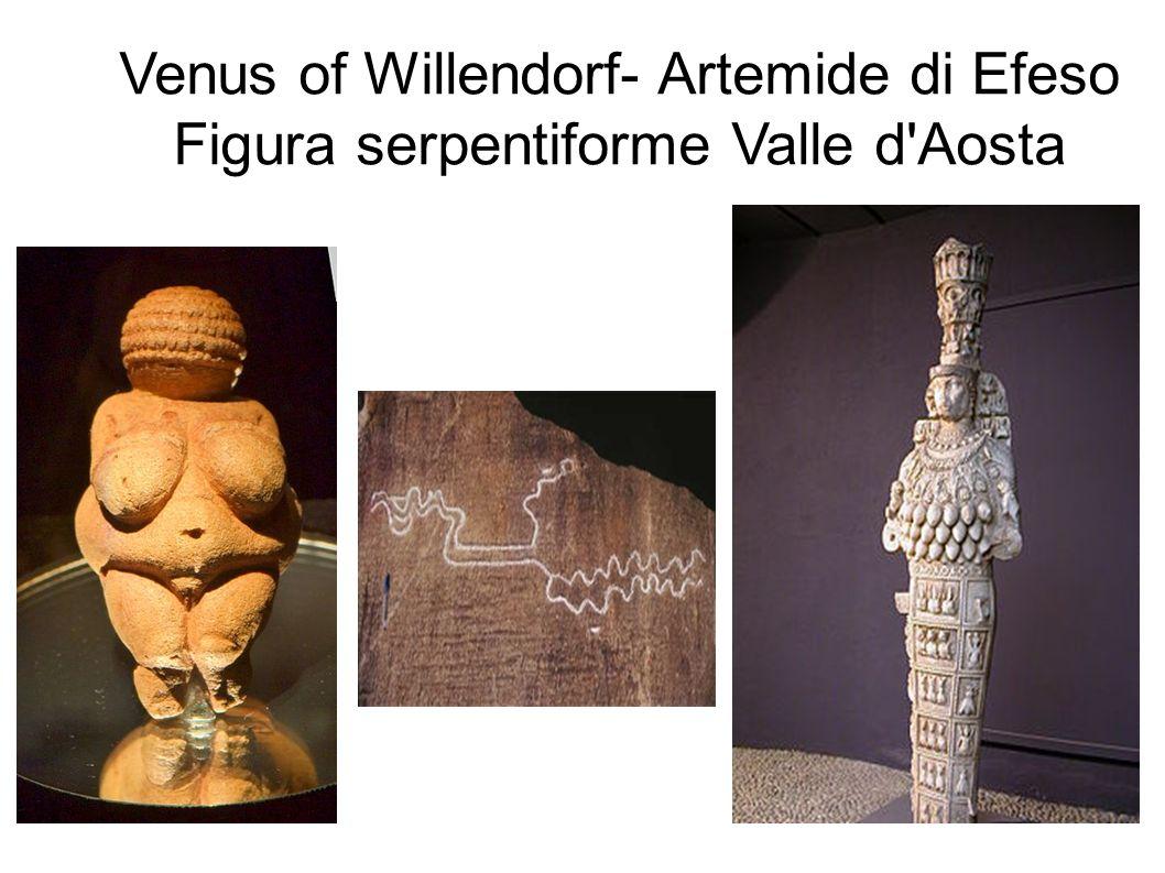 Venus of Willendorf- Artemide di Efeso Figura serpentiforme Valle d'Aosta