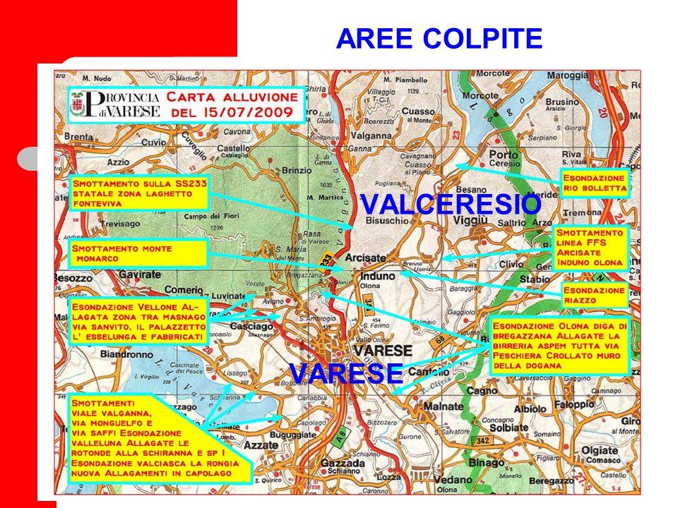 Polizia Provinciale ATTIVAZIONE giornata del 15 luglio: Pattuglia di turno 7-13 DOVE: prestato soccorso a diversi automobilisti in panne a seguito dell allagamento delle strade all interno del centro abitato di Varese.