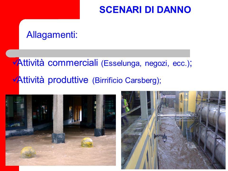 SCENARI DI DANNO Edifici strategici (Palazzo Estense,Dogana, Tribunale di Varese, Aspem) Edifici sensibili (scuole di cui dellEnte Provincia: ISS A.