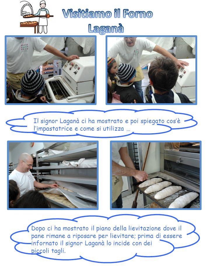 Il signor Laganà ci ha mostrato e poi spiegato cosè limpastatrice e come si utilizza … Dopo ci ha mostrato il piano della lievitazione dove il pane ri