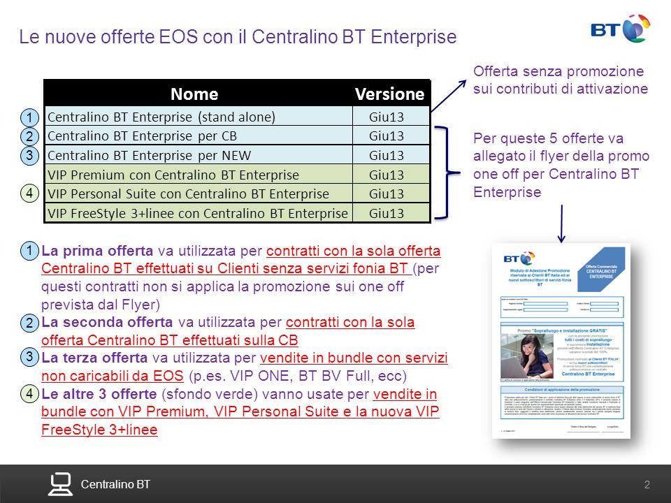 BT Compute. Services that adapt 2 Centralino BT 2 Le nuove offerte EOS con il Centralino BT Enterprise Per queste 5 offerte va allegato il flyer della