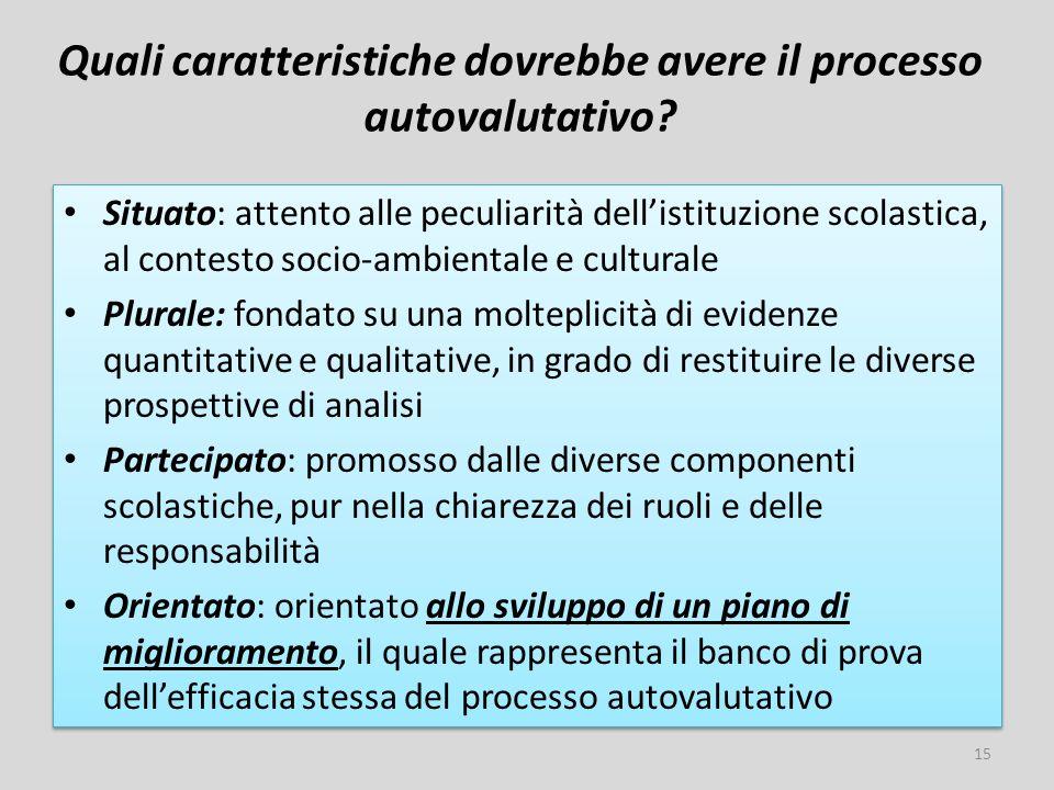 Quali caratteristiche dovrebbe avere il processo autovalutativo.