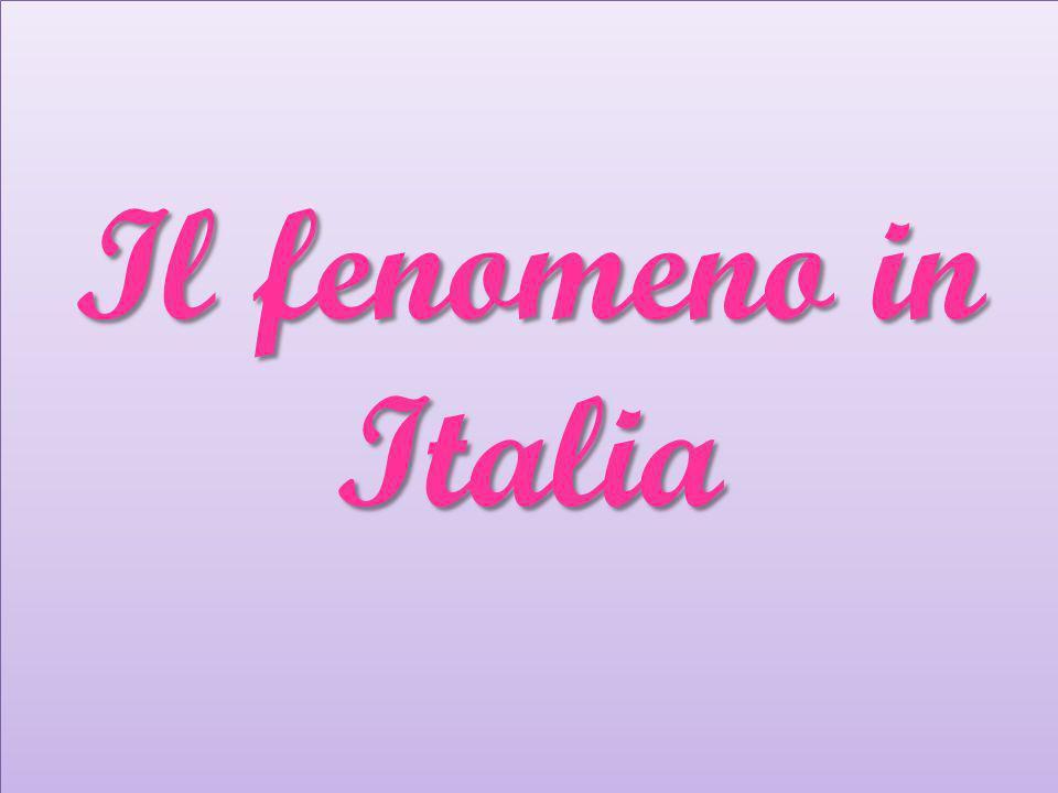 Da pochi anni in Italia si parla di questo problema ed esiste una percezione sociale di questo problema.