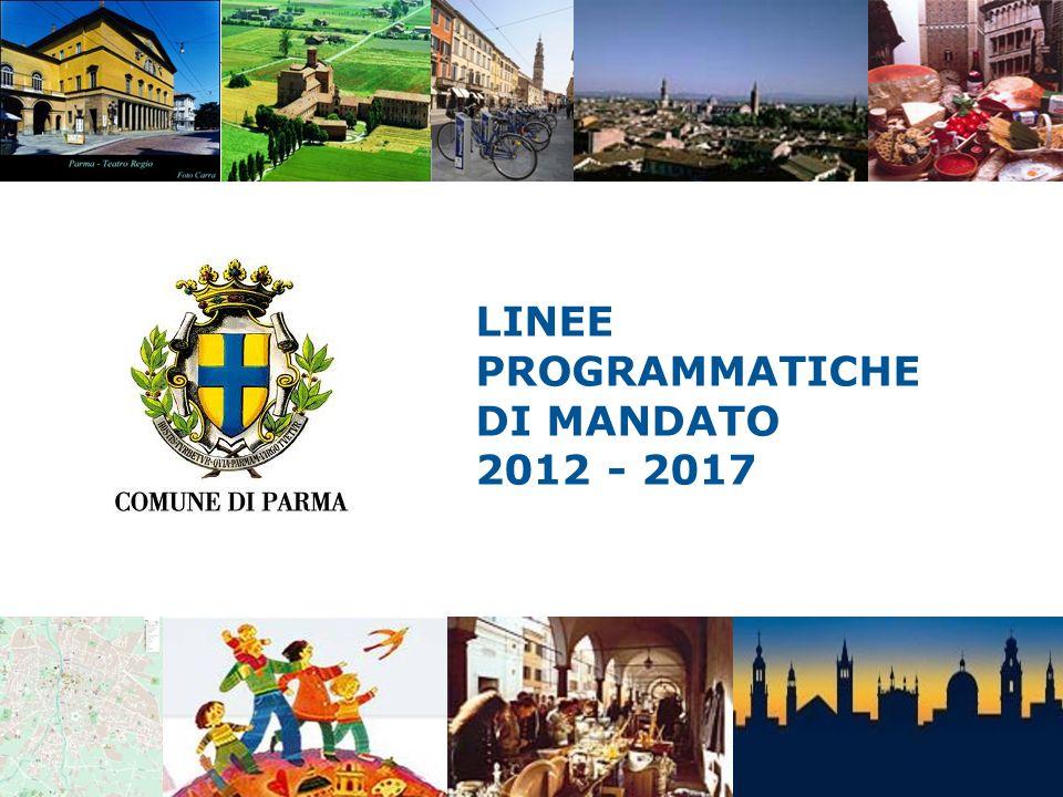 LINEE PROGRAMMATICHE DI MANDATO 2012 - 2017 BILANCIO, SOCIETA PARTECIPATE, POLITICHE FINANZIARIE, TRIBUTARIE E PER IL REPERIMENTO DELLE RISORSE ATTIVITA PRODUTTIVE, TURISMO E COMMERCIO AMBIENTE E MOBILITA URBANISTICA, EDILIZIA PRIVATA, LAVORI PUBBLICI, ENERGIA SCUOLA, SERVIZI EDUCATIVI E RAPPORTO CON LE UNIVERSITA SOCIALE SPORT E POLITICHE GIOVANILI CULTURA Aree Programmatiche 2