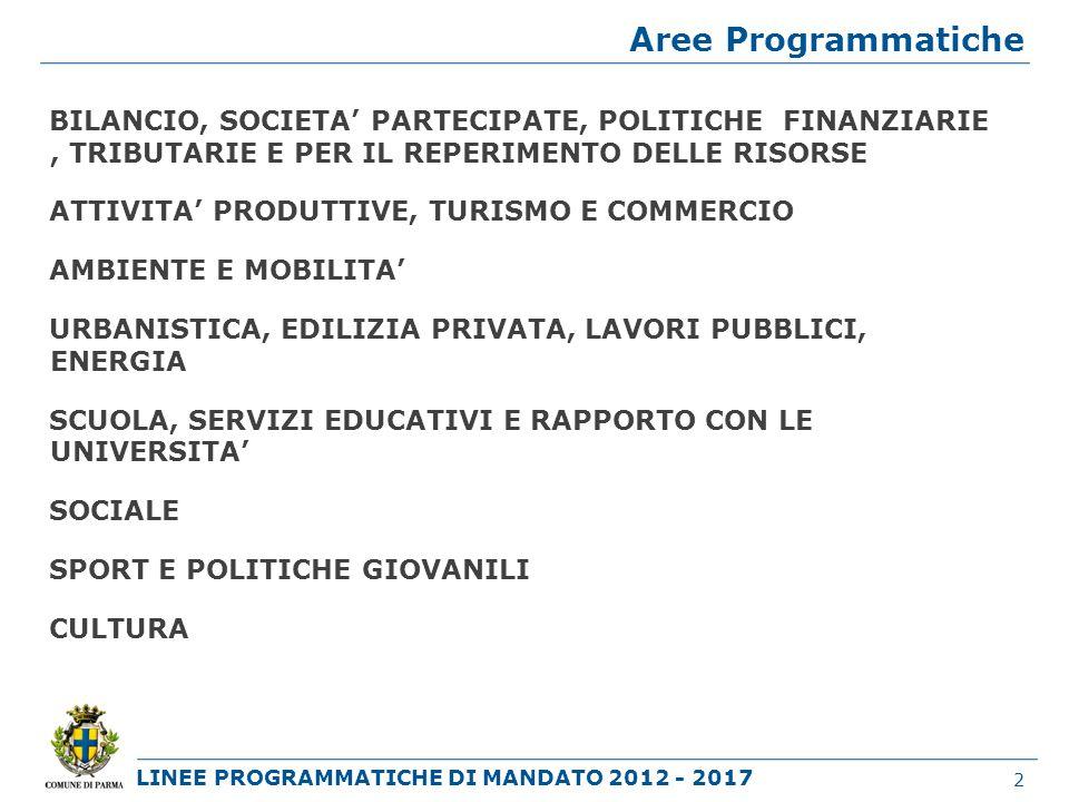 LINEE PROGRAMMATICHE DI MANDATO 2012 - 2017 CULTURA POLITICHE CULTURALI 43