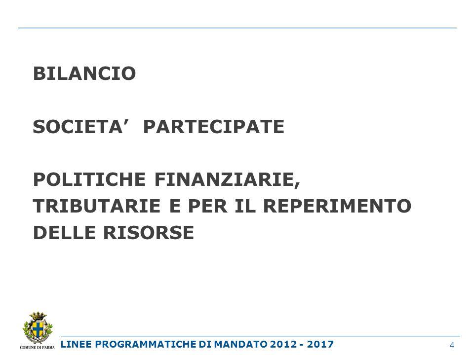 LINEE PROGRAMMATICHE DI MANDATO 2012 - 2017 AMBIENTE MOBILITA TRASPORTI 15