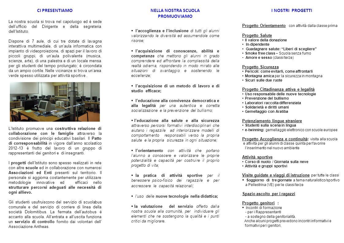 ISTITUTO COMPRENSIVO di CESIOMAGGIORE SCUOLA SECONDARIA di 1°GRADO Via Grei, 7 32030 Cesiomaggiore (BL) blic807006@istruzione.it Tel.
