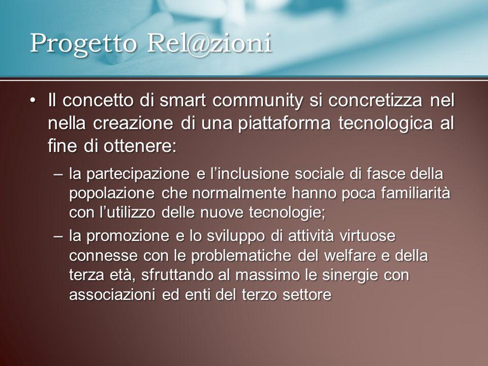 Il concetto di smart community si concretizza nel nella creazione di una piattaforma tecnologica al fine di ottenere:Il concetto di smart community si