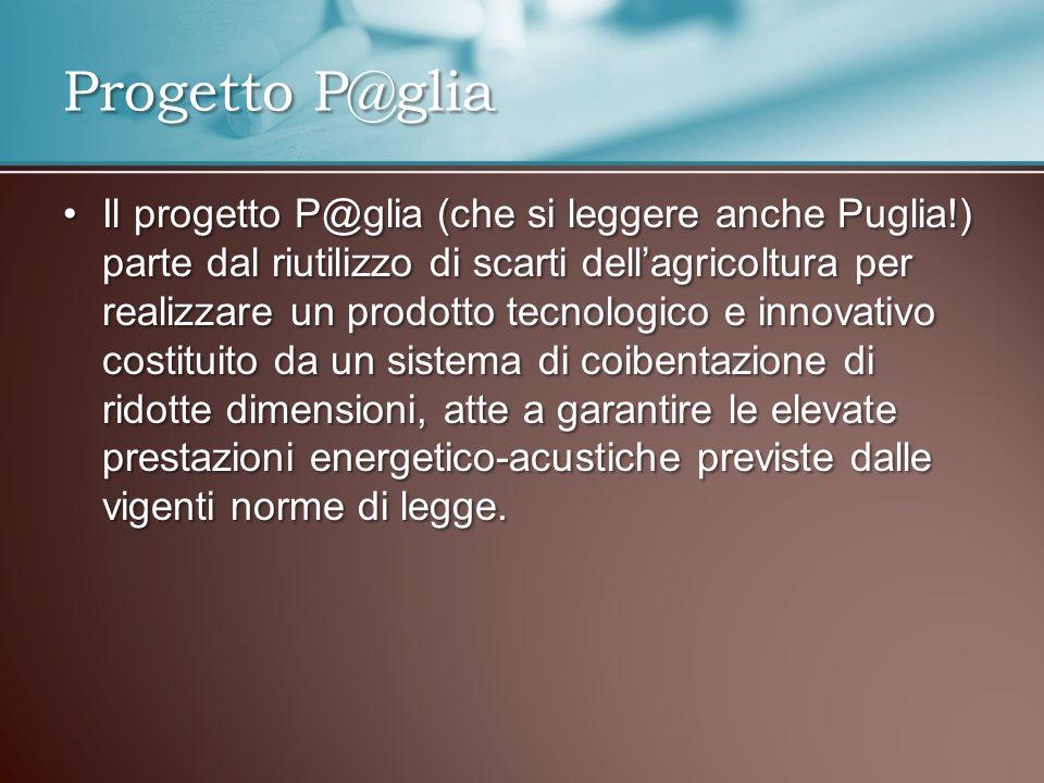 Il progetto P@glia (che si leggere anche Puglia!) parte dal riutilizzo di scarti dellagricoltura per realizzare un prodotto tecnologico e innovativo c