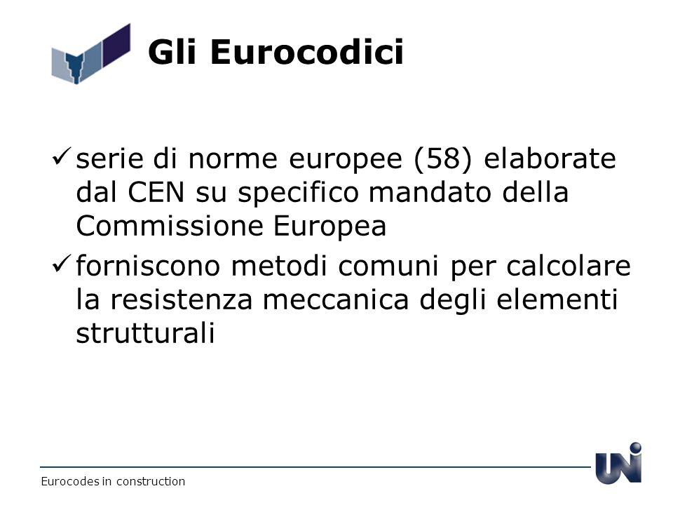 Gli Eurocodici serie di norme europee (58) elaborate dal CEN su specifico mandato della Commissione Europea forniscono metodi comuni per calcolare la