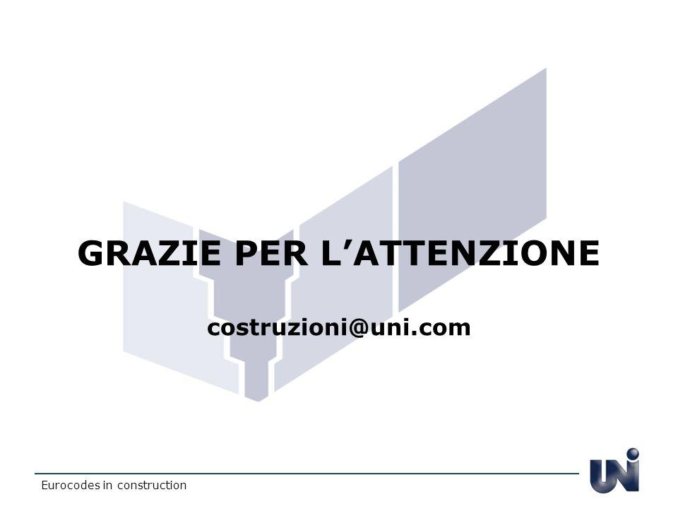 GRAZIE PER LATTENZIONE costruzioni@uni.com Eurocodes in construction