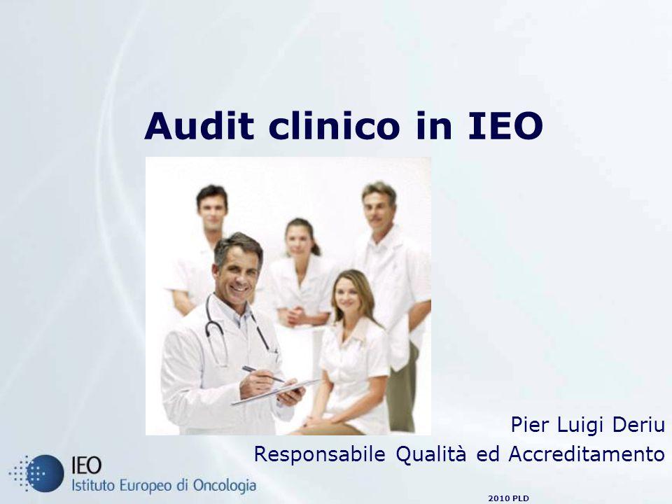 2010 PLD Il Piano di audit in IEO