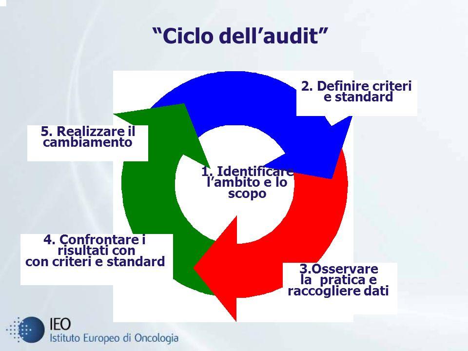 Ciclo dellaudit 4.Confrontare i risultati con con criteri e standard 5.