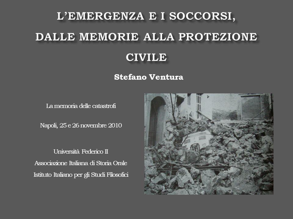 15 gennaio 1968, Belice 6 maggio 1976, Friuli Gli angeli del fango 4 novembre 1966 Lalluvione di Firenze