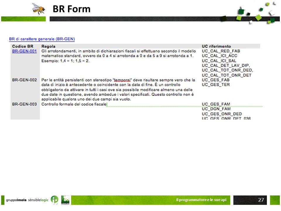 BR Form Il programmatore e le sue api 27