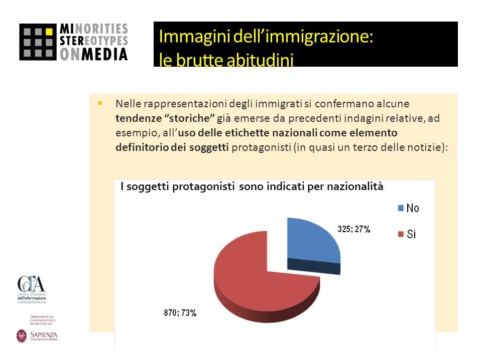 Immagini dellimmigrazione: le brutte abitudini Nelle rappresentazioni degli immigrati si confermano alcune tendenze storiche già emerse da precedenti
