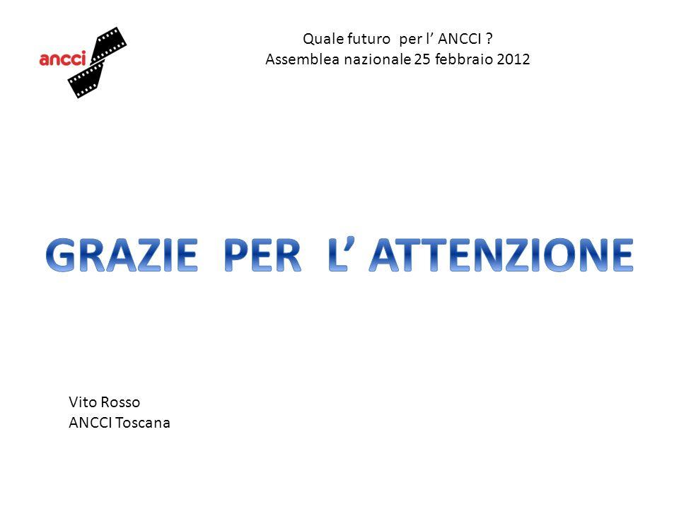 Quale futuro per l ANCCI ? Assemblea nazionale 25 febbraio 2012 Vito Rosso ANCCI Toscana