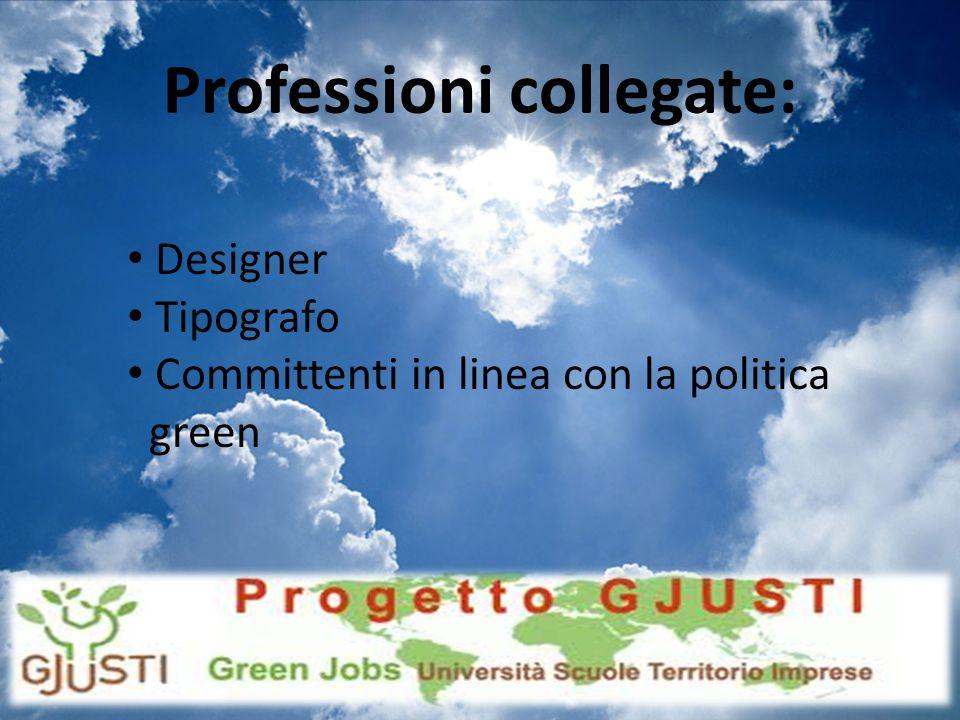 Professioni collegate: Designer Tipografo Committenti in linea con la politica green