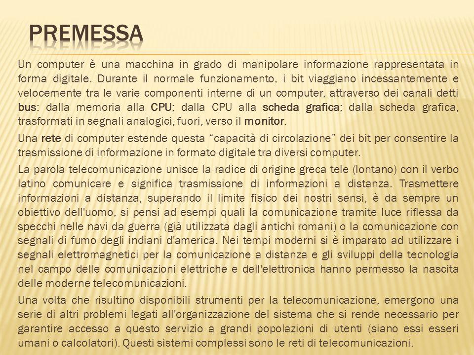I primi esempi di connessione tra computer risalgono agli anni 60 quando i sistemi per lelaborazione erano molto costosi e complessi e vi era la necessità di condividere tra più persone le risorse disponibili.