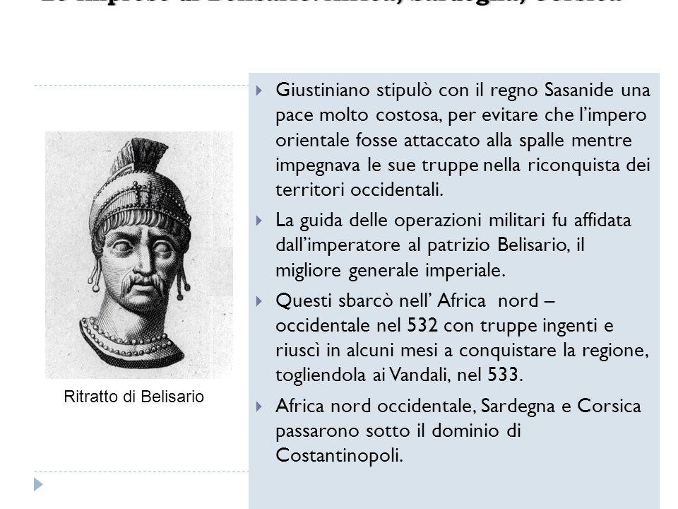 Giustiniano stipulò con il regno Sasanide una pace molto costosa, per evitare che limpero orientale fosse attaccato alla spalle mentre impegnava le su