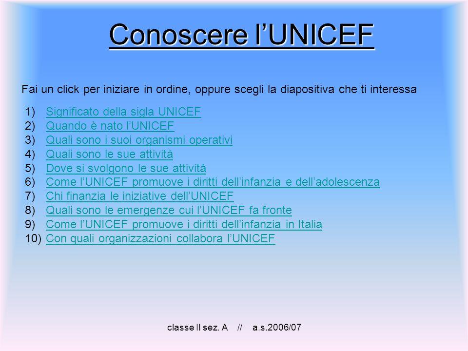 classe II sez. A // a.s.2006/07 Fine Torna allindice