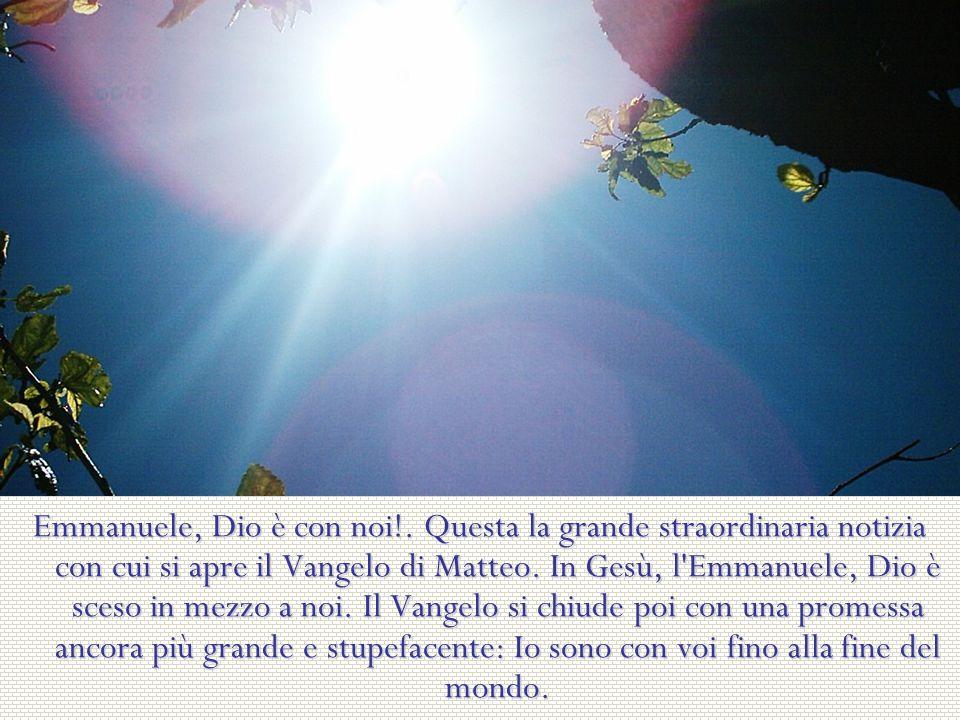Emmanuele, Dio è con noi!.