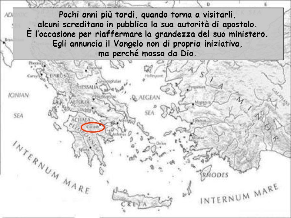 Lapostolo Paolo scrive ai cristiani della città di Corinto a lui particolarmente cari. Era vissuto tra loro per quasi due anni, tra il 50 e il 52. Vi
