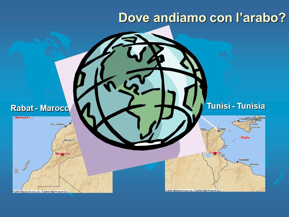 Tunisi - Tunisia Rabat - Marocco Urbino Dove andiamo con larabo?