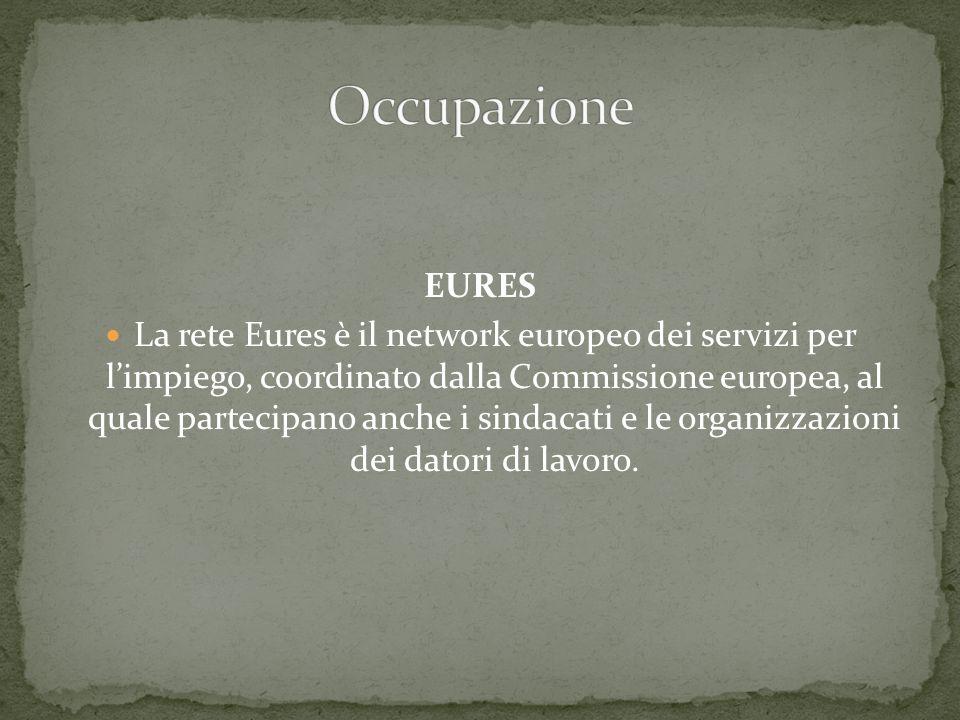 EURES La rete Eures è il network europeo dei servizi per limpiego, coordinato dalla Commissione europea, al quale partecipano anche i sindacati e le o
