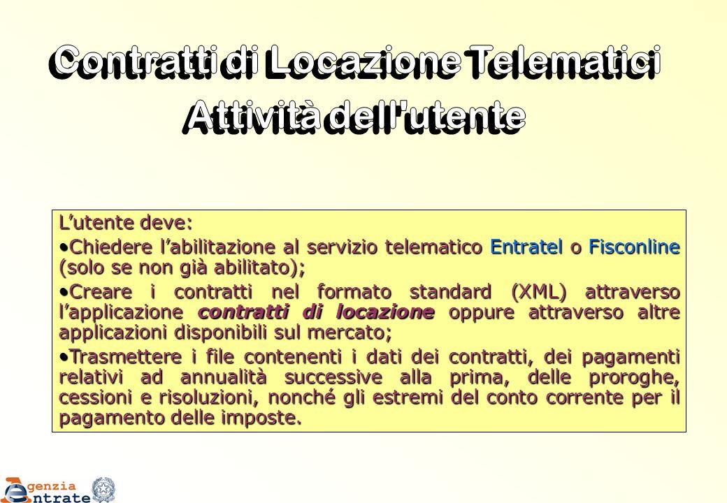 Lutente deve: Chiedere labilitazione al servizio telematico Entratel o Fisconline (solo se non già abilitato);Chiedere labilitazione al servizio telem