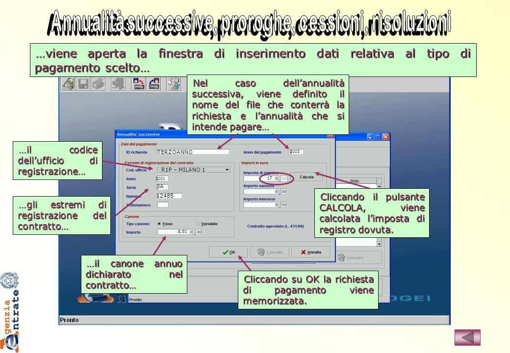…viene aperta la finestra di inserimento dati relativa al tipo di pagamento scelto… TERZOANNO R1P – MILANO 1 2001 3A 12485 8.50 2003 17 Nel caso della